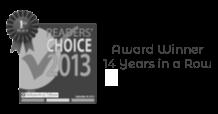 Award Winner 14 Years in a row